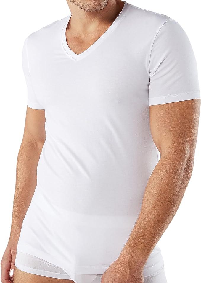 61 opinioni per Intimitaly® 3 T-Shirt Uomo Scollo V 100% Cotone Magliette Intime Uomo Underwear