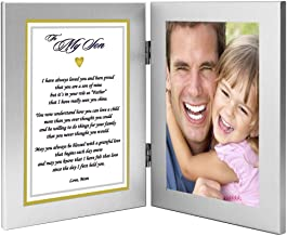 Son Gift from Mom Poem Praising Him for Being a Good Father - Add Photo to Frame