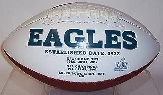 Philadelphia Eagles Embroidered Logo Signature Series Full Size Logo Football - with Super Bowl LII 52 Logo