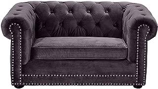 TOV Furniture The Dachshund Collection Velvet Upholstered Handmade Elevated Sofa Pet Dog Bed