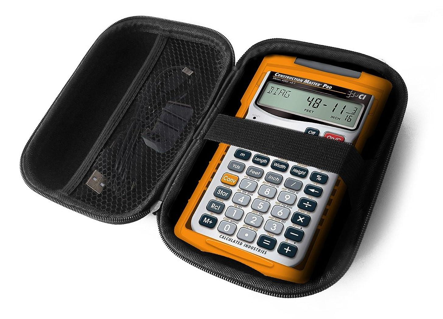 敬意扱いやすい満足FitSandハードケースfor計算されIndustries 4065?ConstructionマスターPro Advanced Construction数学feet-inch-fraction電卓