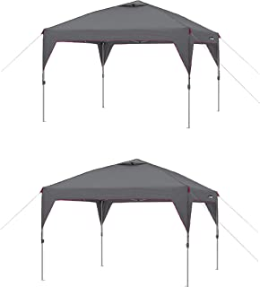 CORE Instant Canopy 10x10 Ft Outdoor Shade Canopy Shelter Tent, Gray (2 Pack)