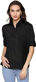 DAMEN MODE Women Rayon Solid Shirt