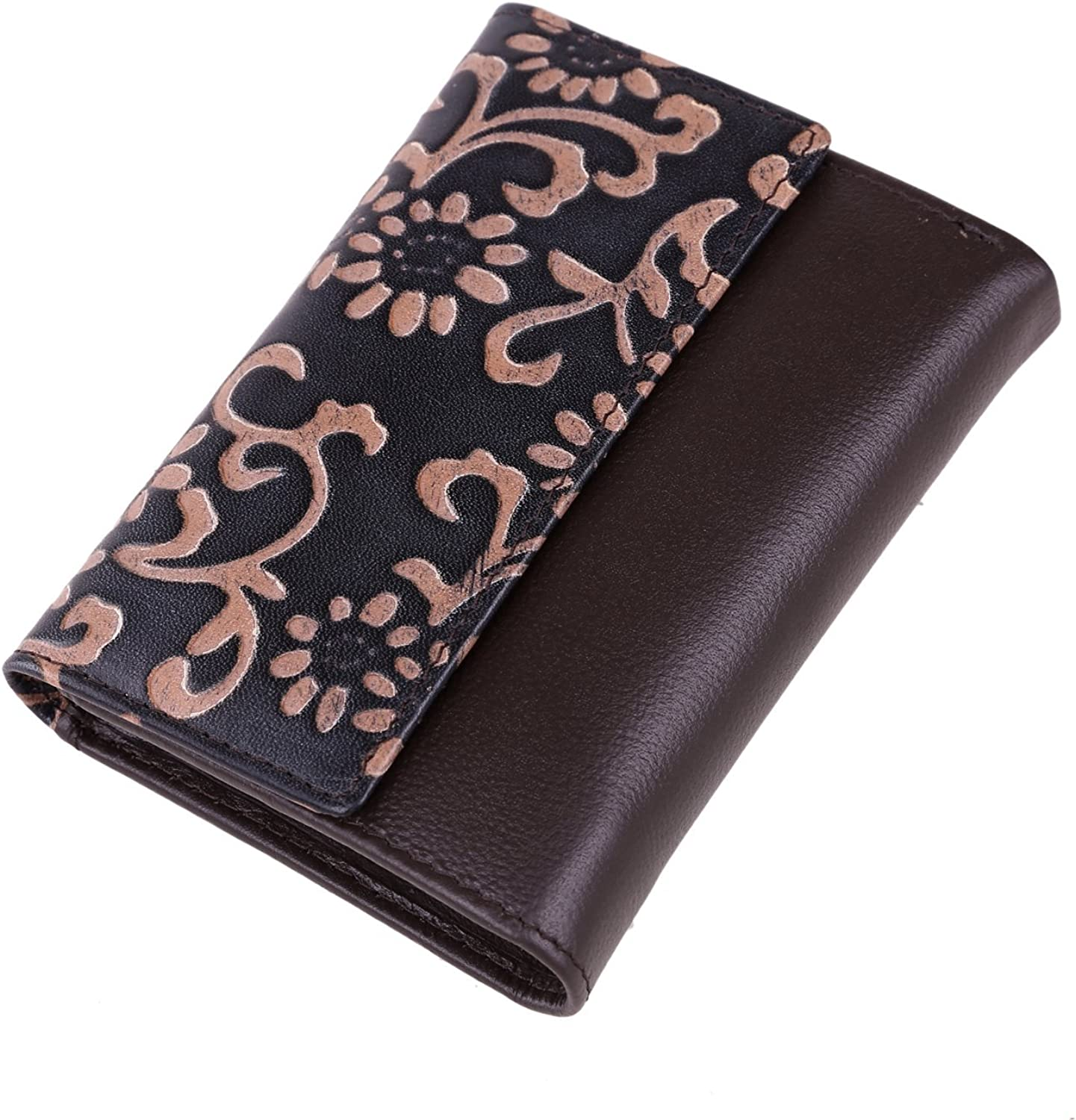 Herbal Heaven Lady Wallet Carved Retro Short