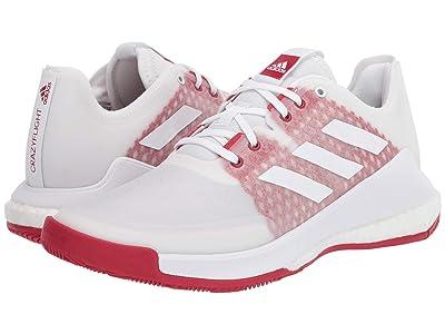 adidas Crazyflight (Footwear White/Footwear White/Power Red) Women