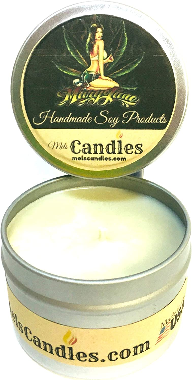 Mary 25% OFF Jane Marijuana Aroma New product 4 Ounce All Soy Handmade Natural Can