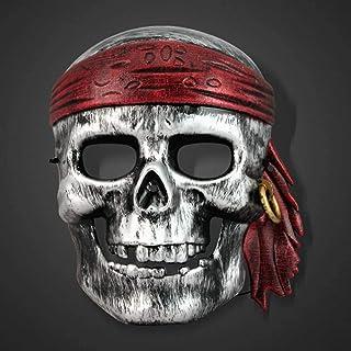Masker Decoratie, Halloween Adult Rollenspel Props Caribbean Pirate Mask Skull Horror Ball Dress Up Props, (Color : B)