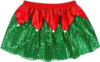 Holiday Running Costume Skirt | Sequined Elf Tutu