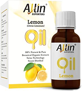 Allin Exporters Steam Distilled Lemon Essential Oil 15 Ml Pure, Natural & Therapeutic Grade Enriched In Vitamin C & Natural Antioxidants