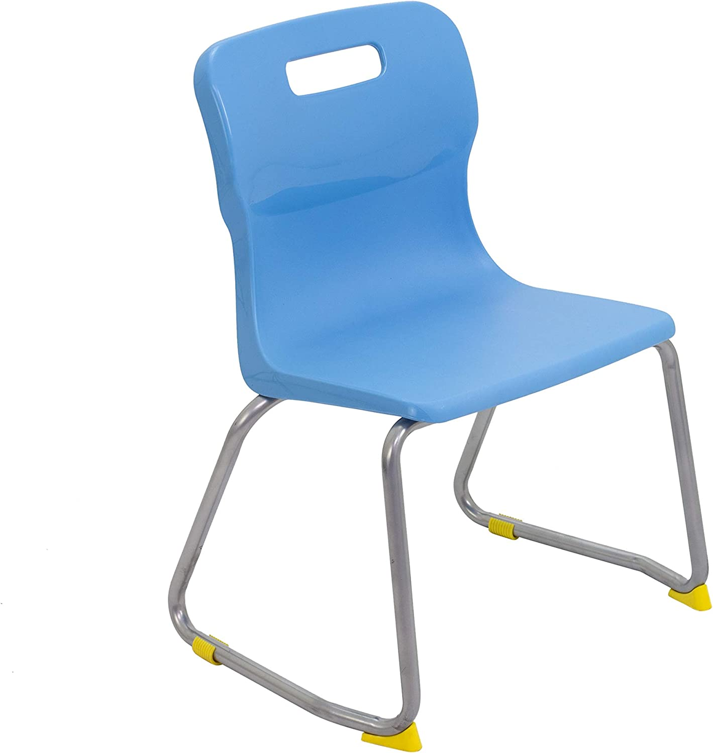 Titan Skid Classroom Chair, Plastic, Age 57 Years, Sky bluee, Pack of 3