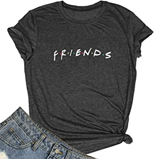 MAXTREE Women Friends Graphic T Shirts Funny Tops