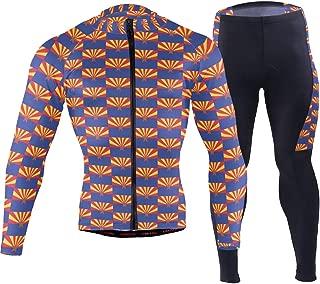 Arizona Flag Pattern Men's Cycling Jersey Set Breathable Quick-Dry MTB Road Bike Luxury