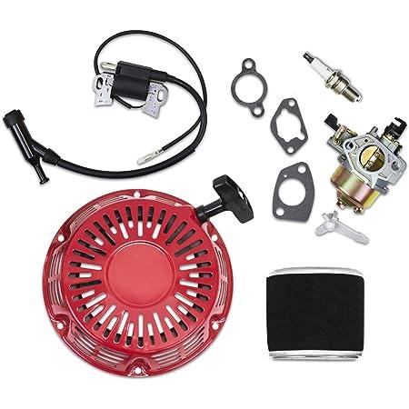 Kit Fit Honda GX340 GX390 Recoil Carburetor Ignition Coil Spark Plug Air Filter