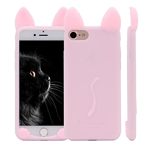 070b7bf157 iPhone 6S Plus Case, MC Fashion KoKo Cat Cute 3D Cat Kitty Ears Protective  Silicone