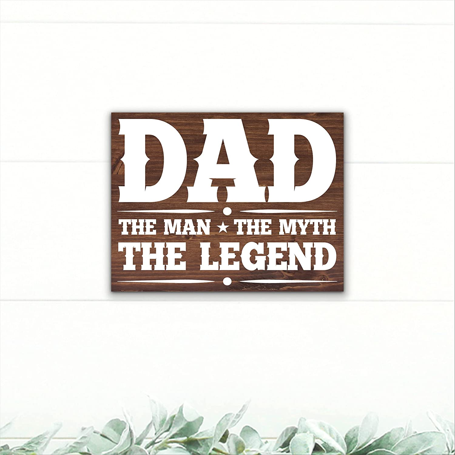Dad - The Man Myth Outlet sale feature Max 41% OFF Wood Sign Day Father's Legend
