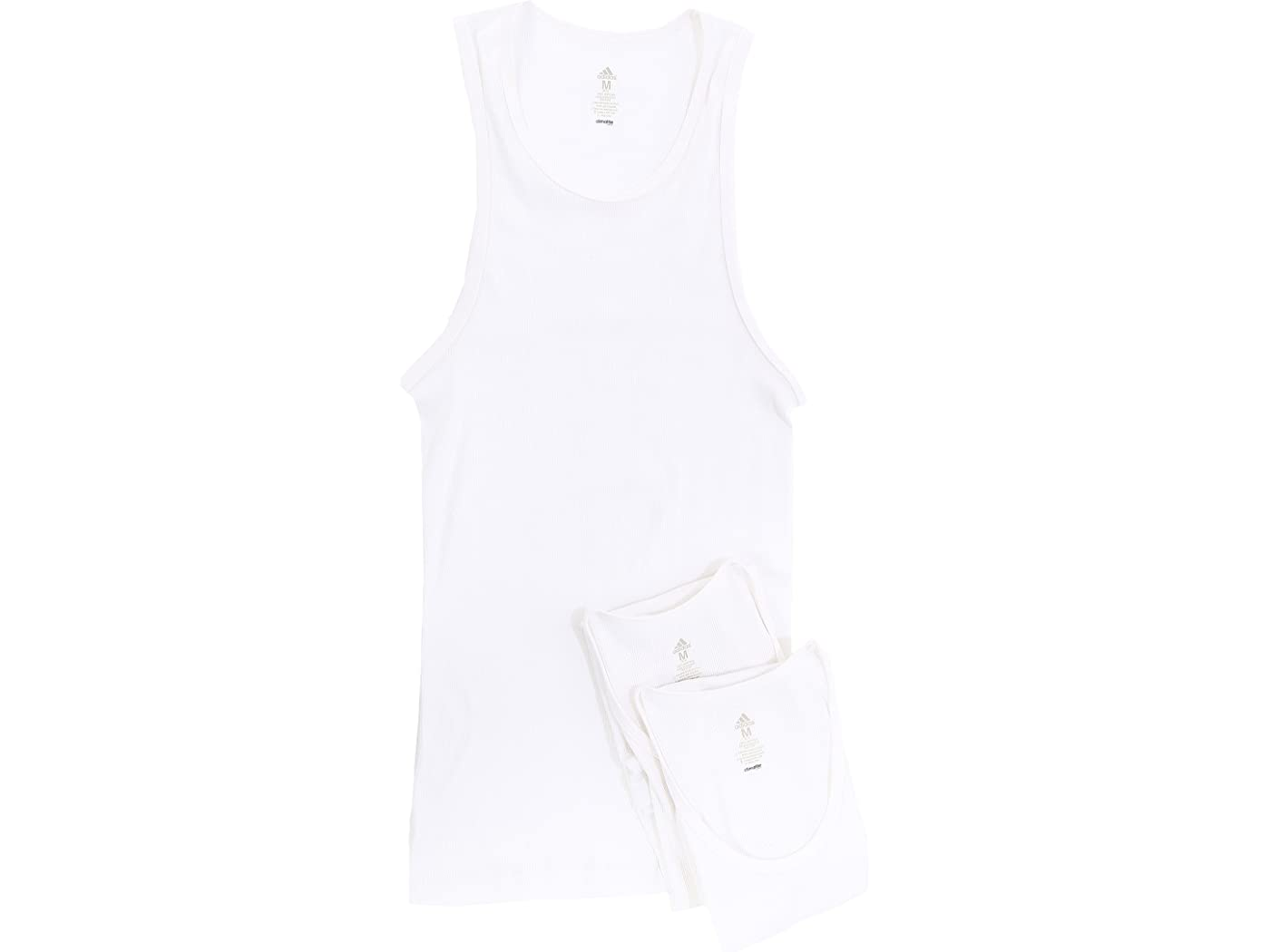 Adidas Athletic Comfort 3-Pack Ribbed Tank Top