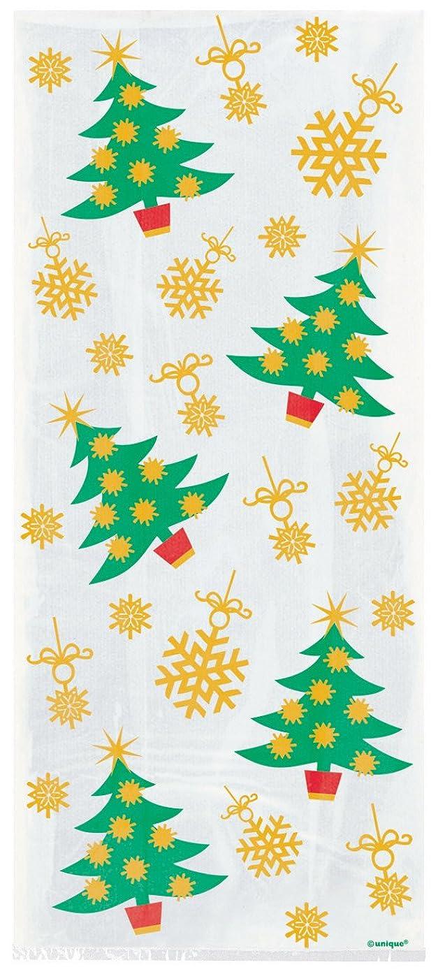 Golden Christmas Tree Cellophane Bags, 20ct