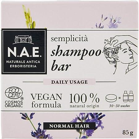 N.A.E. Shampoo Solido Semplicità, Shampoo Bar Ecologico e Vegano per Capelli Normali, 85 gr