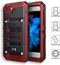 HUAAKE IPhone7 Waterproof Case I8 Metal Case Diving Protection Cover Dustproof Shockproof Outdoor Sports Special Case Strong and Sturdy for Iphone7&8