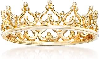 Ross-Simons 14kt Yellow Gold Royal Crown Ring