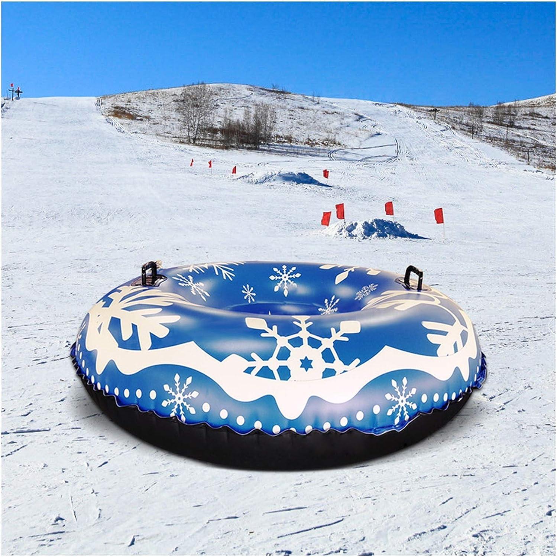 Color : Blue PJAQS Snow Tube PVC Gonfiabile Slitte Slitte Slitte Heavy Duty Wearable Sledding Tube Ski Circle Sport Invernali H12.2