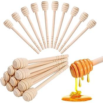 Individually W Creative Hobbies 24 Pack of Mini 3 Inch Wood Honey Dipper Sticks