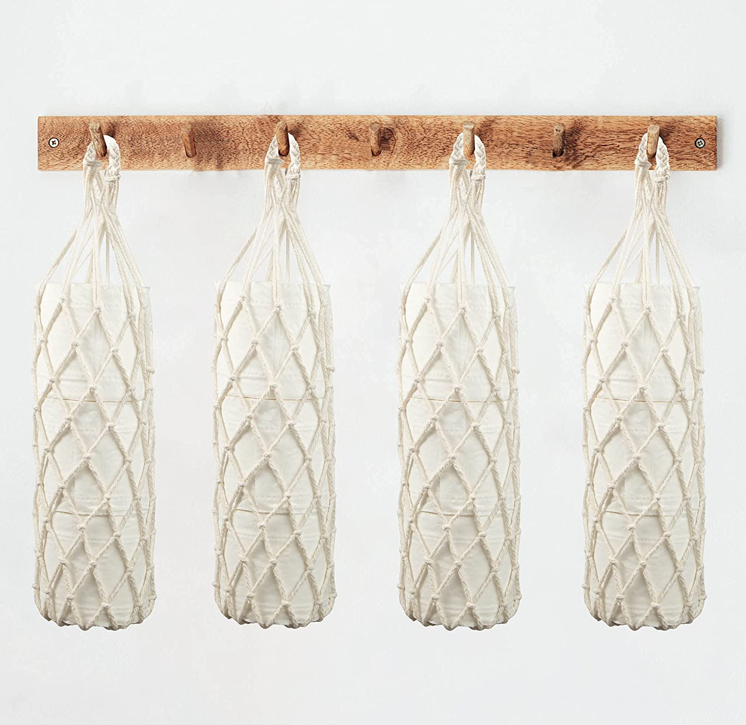 Hanging Boho Online limited product Toilet Paper Large special price !! Storage Holder 6Pack Net Bags for Fami