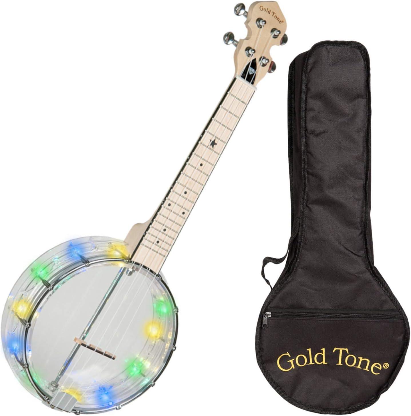 Goldtone Challenge the lowest price of Japan ☆ Ultra-Cheap Deals LGLT Light-Up Little Gem w Banjo Ukulele Bag