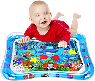 WSPER Tummy Time Water Mat Inflatable Baby Water Play Mat for 3+ Months Newborn Infants Sensory Development and Stimulatio...