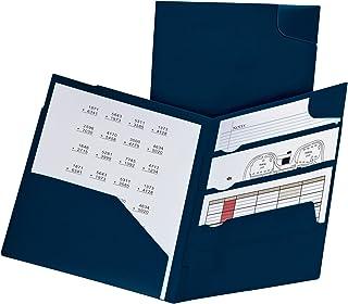 Oxford Divide it Up, 4 Pocket Folder, Navy, Letter Size, 1 per box (99801)