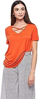 Brave Soul Blouse for Women - Orange Red