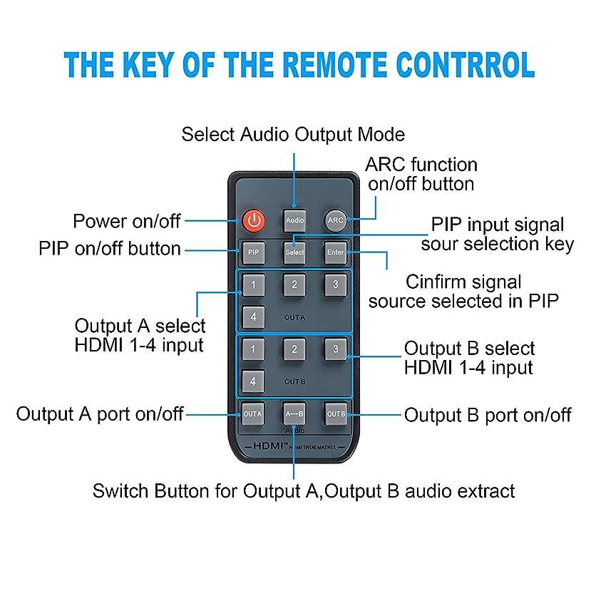 NEWPOWER 4K HDMI Splitter Switch 4x2 ARC HDMI Splitter Remote