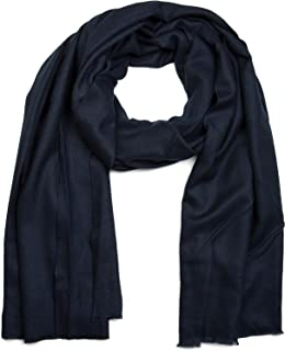 styleBREAKER weicher Stola Schal in Unifarben mit Fransen, Tuch, Unisex 01017070