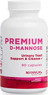Clean D Mannose Capsules 1,000 mg Urinary Tract Infection Formula no Common Fillers, no Silica, no Magnesium Stearate no S...