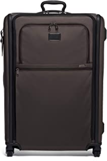 TUMI - Alpha 3 Extended Trip Expandable 4 Wheeled Packing Case Suitcase - Rolling Luggage for Men and Women - Coffee