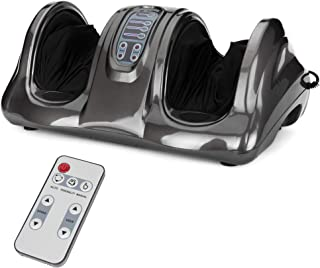 Best Choice Products Therapeutic Kneading and Rolling Shiatsu Foot Massager for Foot, Ankle, Nerve Pain w/High Intensity Rollers, Remote Control, 4 Programs, 3 Massage Modes - Gray