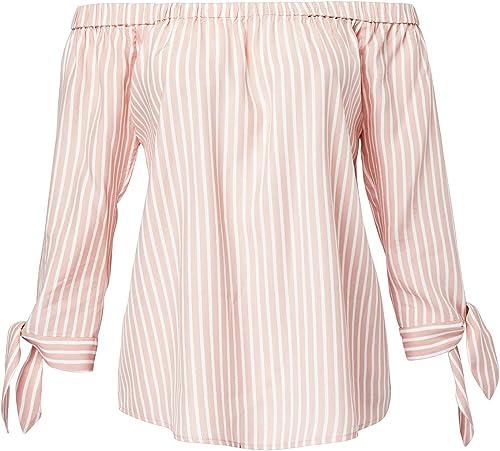 HALLHUBER Off-Shoulder Bluse mit Streifenmuster gerade geschnitten