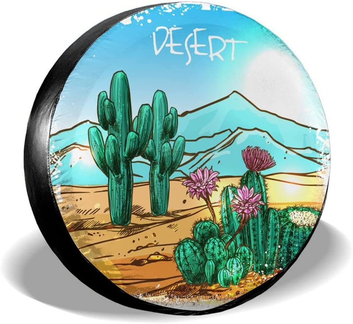 TGUBJGV Spare Tire Covers sold Spring new work out Arizona in Cactus Desert Universal Dus