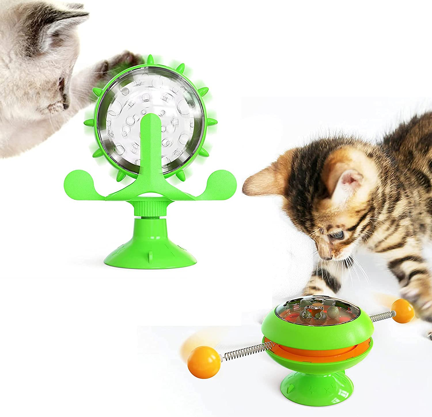 Cat Toys Max 48% OFF Interactive Ball Minneapolis Mall Toy GYRO Windmill C Shaped