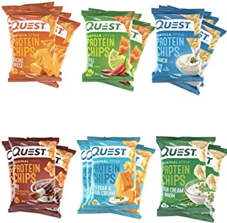 Quest Nutrition Protein Chips Ultimate Variety Pack. Tortilla and Original Style Bundle for Healthy and Savory Snack with Low Carbs and High Protein (30 Count, 6 Flavors)