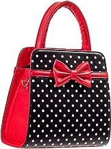 Dancing Days Carla Retro Bag 50s Rockabilly Polka Faux Leather Top Handle Handbag