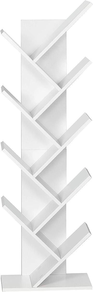 Libreria bianca in legno mobili scaffale, per soggiorno da ufficio casa serial (albero) meerveil H1071BS07WT