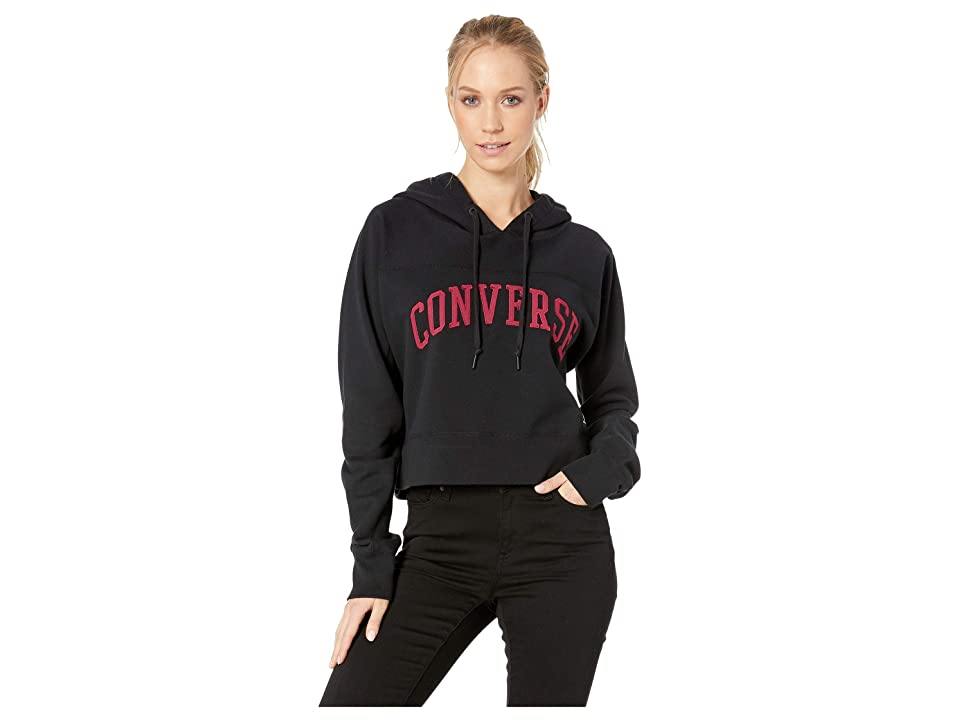 Converse Essentials Mid Pullover Hoodie (Black) Women