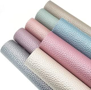 ZAIONE Soft Pearl Lustrous Litchi Faux Leather Sheets 8pcs/Set 8