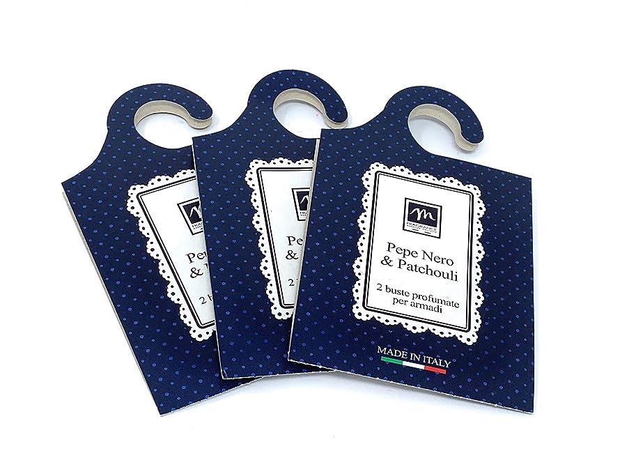 種類鉱夫ネブMERCURY ITALY 吊り下げるサシェ(香り袋) MAISON イタリア製 ペパー&パチョリの香り/Pepe Nero & Patchouli 2枚入り×3パック [並行輸入品]