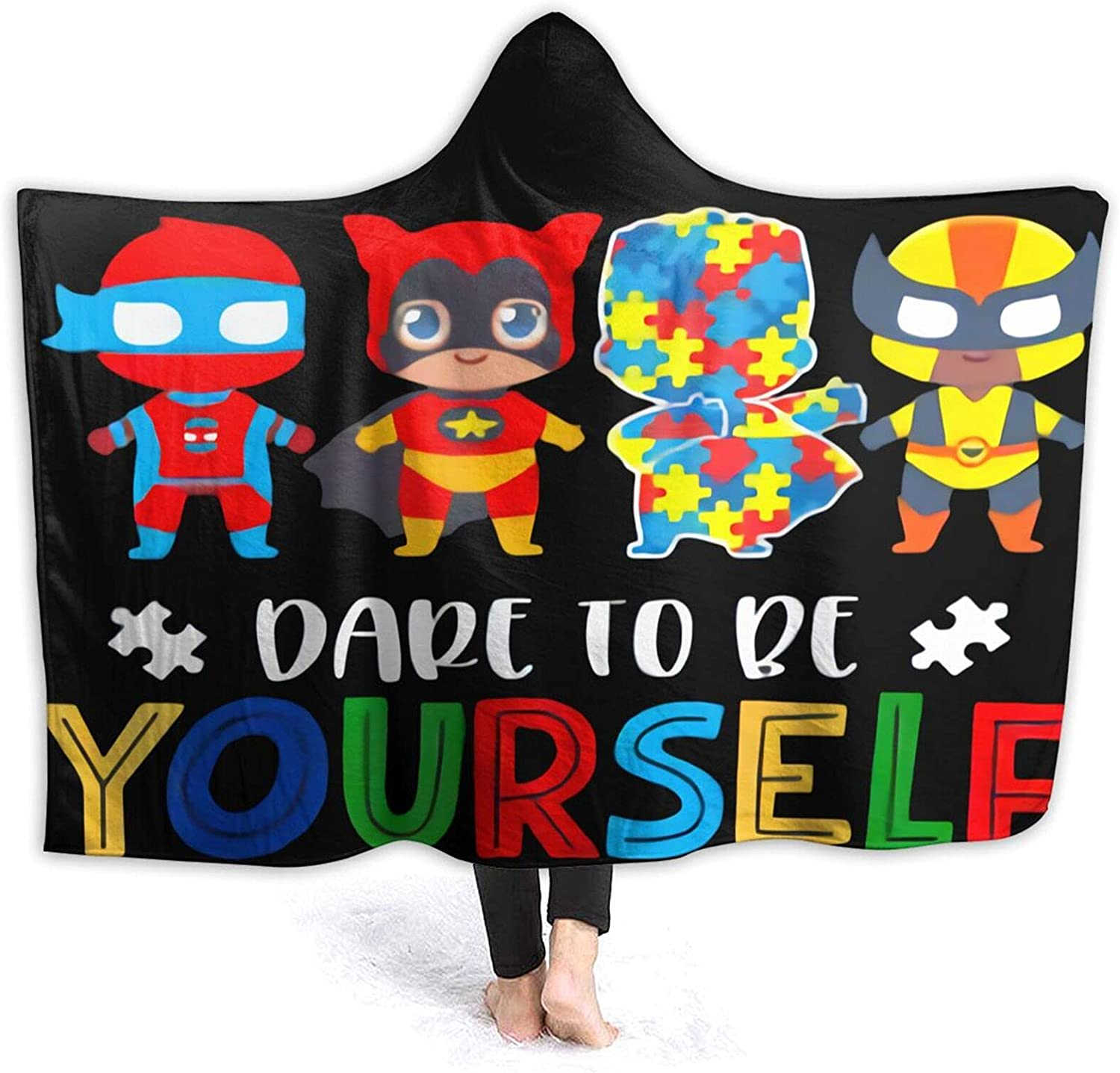 Dare to Be Yourself Detroit Mall Hooded Blanket New Shipping Free Blankets C Soft Wearable Warm