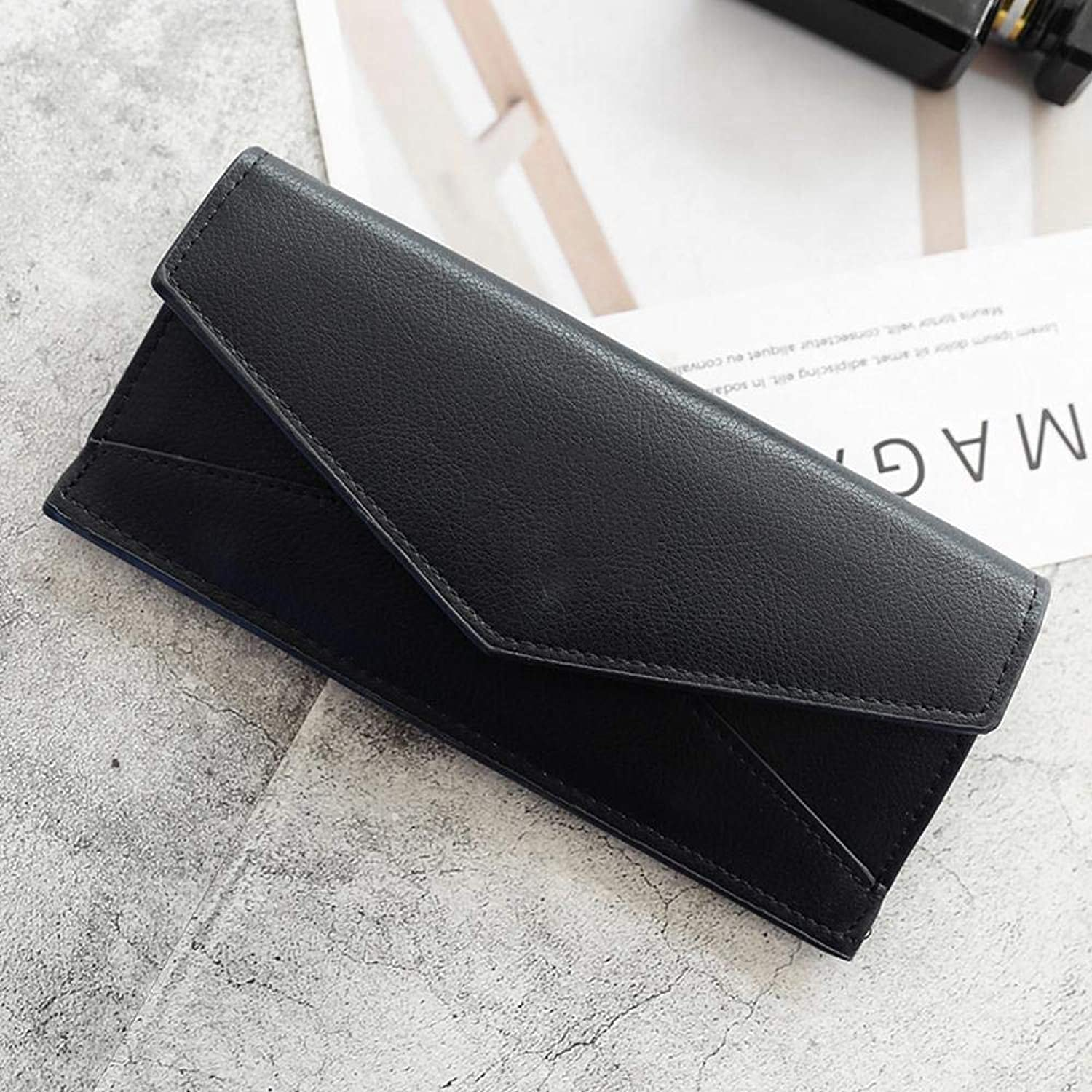 Girls Purse Women's Wallet,Womens 20 Percent Envelope Style Letter Decoration Young Student Long Wallet (color   B)