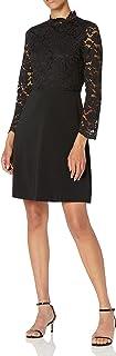 Marca Amazon - Lark & Ro Long Sleeve Mixed Lace Dress Mujer