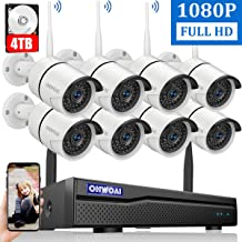 【2020 New】 Security Camera System Wireless, 4TB Hard Drive Pre-Install 8 Channel..