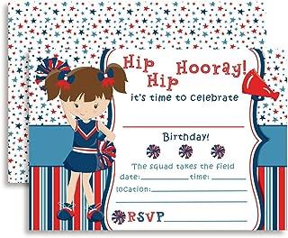 Cheerleader Birthday Party Invitations, 20 5